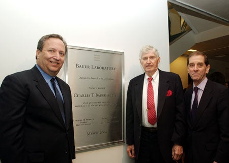 Lawrence H. Summers, Charles T. Bauer and Jeremy R. Knowles