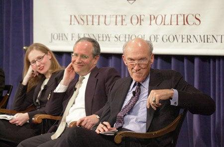 Juleanna Glove Weiss, William Kristol and Alan Simpson