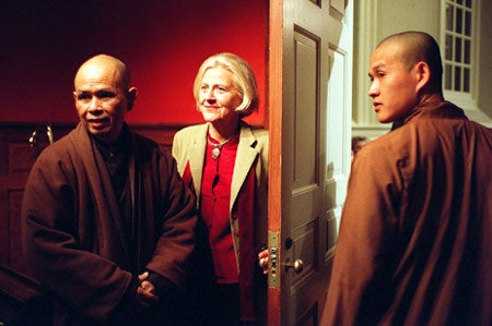 Thich Nhat Hanh with Dorothy Austin