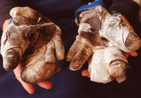 William Tan's gloves