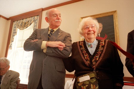 Catherine Jones and Michael Shinagel