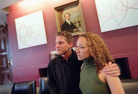 Angela Freeburg and Justin Erlich
