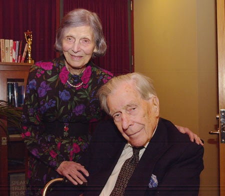 John Kenneth Galbraith with his wife Kitty