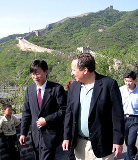 Lawrence H. Summers tours the Great Wall of China