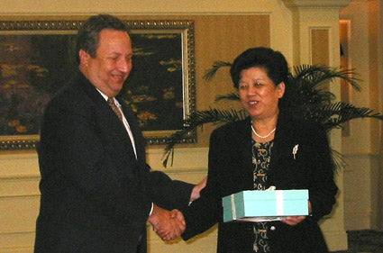 Lawrence H. Summers with Chen Zhili