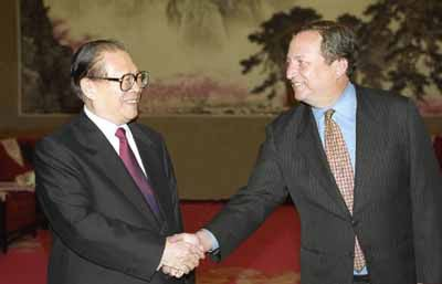 President Jiang Zemin and President Lawrence H. Summers