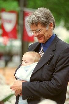Robert Bachman and son