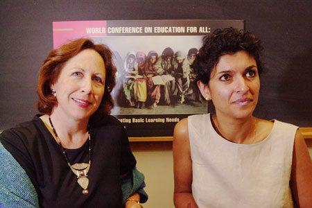 Sue Grant Lewis and Mitra Shavarini