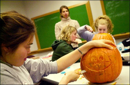 Freshman Pumpkin Carving Contest