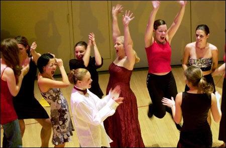 Members of Harvard Ballroom Dance Team