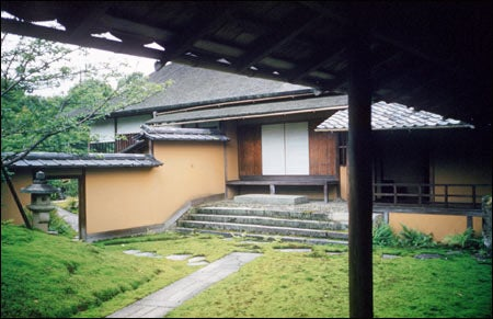 Gropius photo of a Kyoto courtyard garden