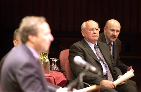 Lawrence H. Summers and Mikhail Gorbachev