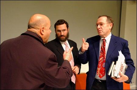 Hasan Abdel Raman, Rabbi Shmuley Boteach, Professor Alan Dershowitz