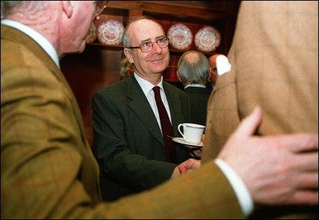 Ambassador Noel Fahey enjoying a cup of tea