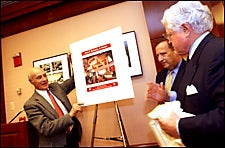 Dean Nye, President Summers, and Senator Kennedy