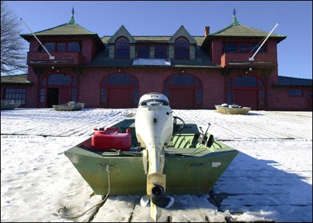 Ice-covered boat