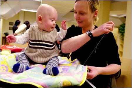 Melanie Stoehr with baby Anton