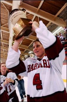 Angela Ruggiero with trophy