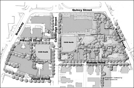 Map of Cambridge St, buildings