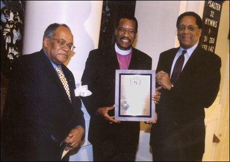 The Rev. Professor Peter J. Gomes, Bishop Charles E. Blake, S. Allen Counter