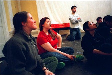 Students at rehearsal