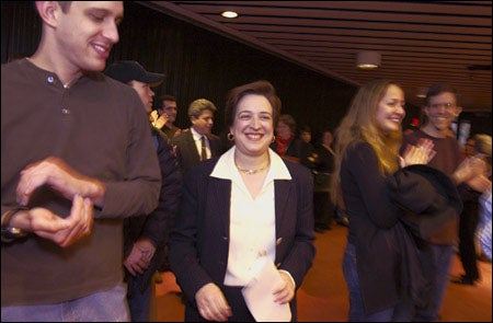 Elena Kagan smiling broadly
