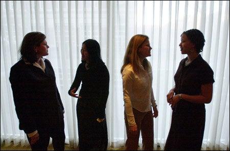 Jane Swift, Michelle Kuo '03, Shelby Braxton-Brooks '03, Rachelle Gould '03