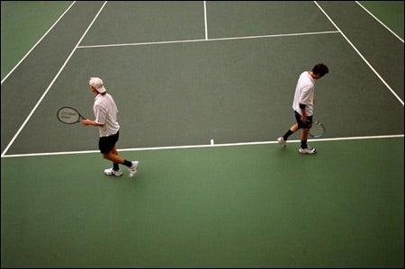 Juniors Mark Riddel and David Lingman