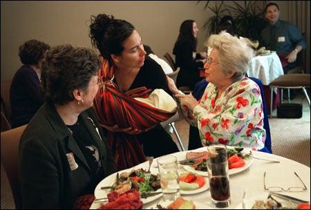 Kay Shelemay, Maureen Jones, and Dr. Ruth Westheimer