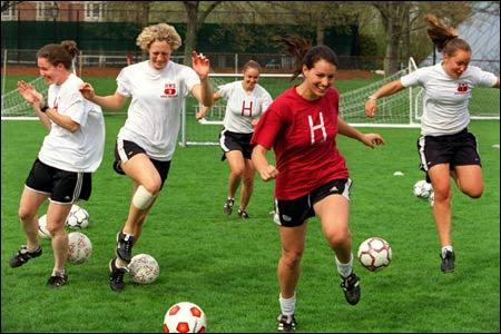 Harvard soccer players