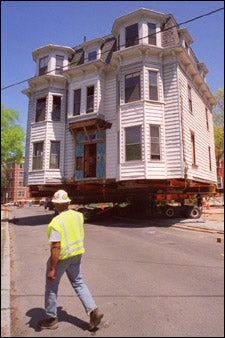 Moving of Prescott Street house