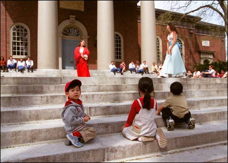 Children watching 'Much Ado About Nothing'