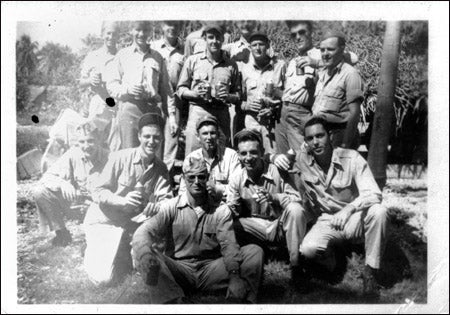 Rigby with other soldiers