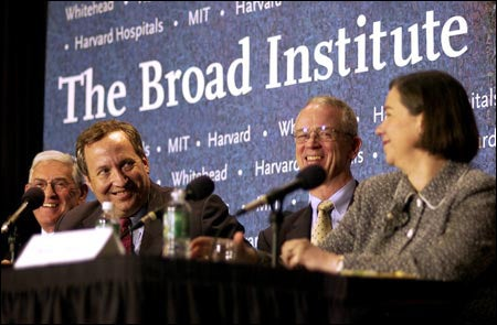 Eli Broad, President Summers, MIT President Vest, Susan Lindquist