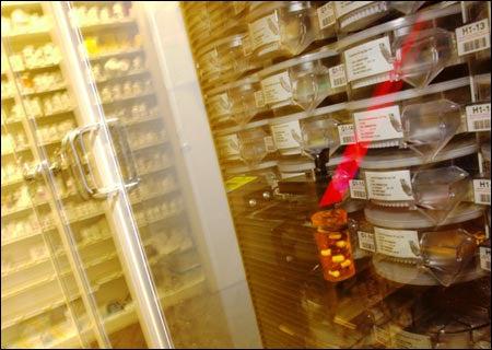 Pharmacy robot on the job