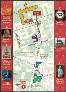Map of Harvard museums