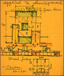 Preliminary plans of Sert House