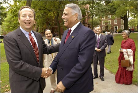 President Summers, Foreign Minister (India) Sinha