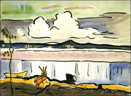 "Painting: ""The White Cloud"" by  Karl Schmidt-Rottluff"
