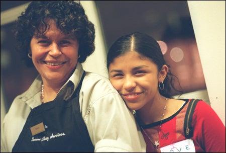 Guerrero with daughter Karen