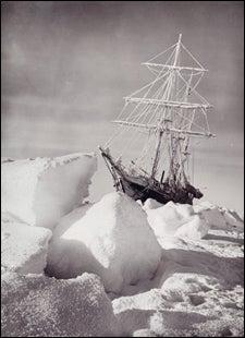 The ice-bound Endurance