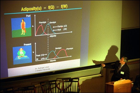 Spiegel with presentation slide