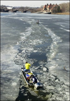 Breaking up the ice on the Charles