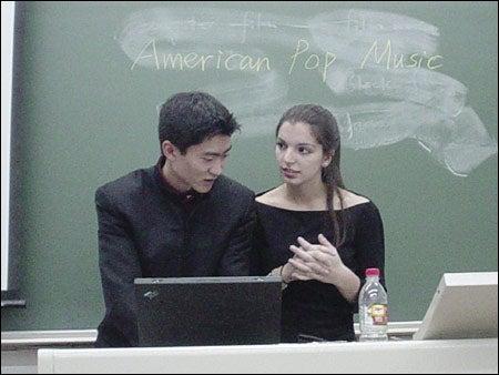 Liqian Ma (left) and Britton Rose Tullo