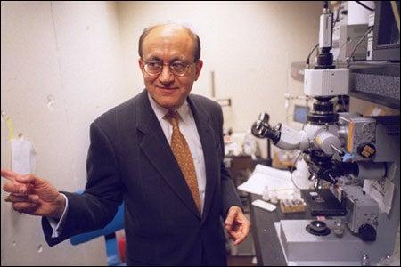Rakesh Jain in his lab