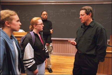 Gore with students