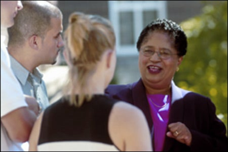 Shirley Anne Jackson with students