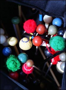 colorful mallets