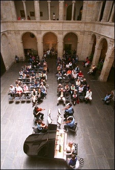 Russian chamber music in Fogg courtyard
