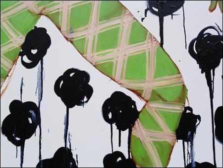 Janet Kim's 'Indigo Flowers and Showers' (detail)